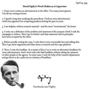 david ogilvy 5 rules